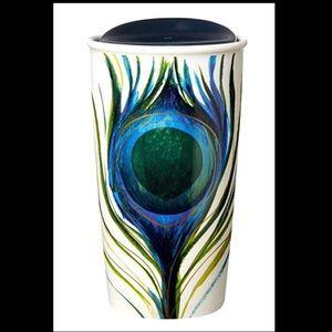 Starbucks Peacock Double insulated ceramic lid '15